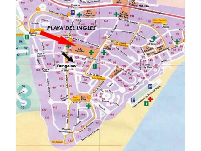 Location map - Los Valles II, Playa del Ingles, Gran Canaria